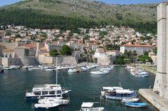 Puerto deportivo de Dubrovnik Imágenes de archivo libres de regalías