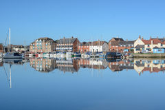 Puerto deportivo de Eling, cerca de Southampton, Hampshire, Reino Unido Imagen de archivo