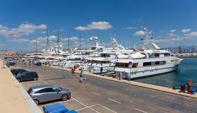 Puerto deportivo de Flisvos, Paleo Faliro, Grecia Foto de archivo libre de regalías