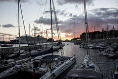 Puerto deportivo de Funchal en Madeira imágenes de archivo libres de regalías