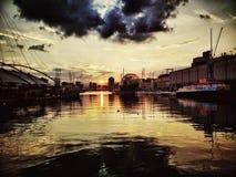 Puerto deportivo de Génova Oporto Antico fotografía de archivo