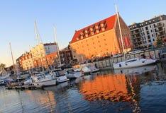 Puerto deportivo de Gdansk, Polonia, mar Báltico Imágenes de archivo libres de regalías