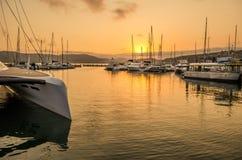 Puerto deportivo de Knysna, ruta del jardín, Suráfrica Fotos de archivo libres de regalías