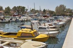 Puerto deportivo de Krk Fotografía de archivo libre de regalías
