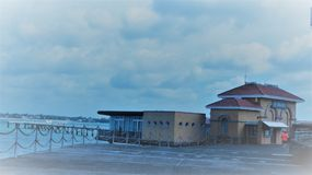 Puerto deportivo de la bahía de Okahu Foto de archivo