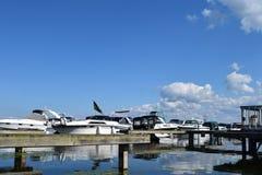 Puerto deportivo de la bahía del punto de Sodus en Nueva York Imagen de archivo libre de regalías
