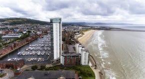 Puerto deportivo de la ciudad de Swansea Fotografía de archivo libre de regalías
