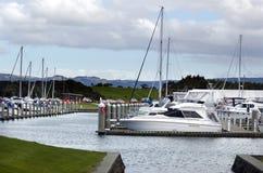 Puerto deportivo de la ensenada de Marsden del GAS - Nueva Zelanda Foto de archivo libre de regalías