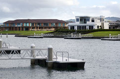 Puerto deportivo de la ensenada de Marsden del GAS - Nueva Zelanda Imagenes de archivo