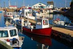 Puerto deportivo de la pesca, Gaspésie Imagen de archivo libre de regalías