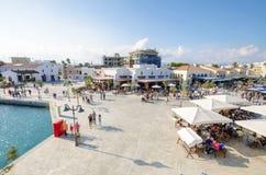 Puerto deportivo de Limassol, Chipre fotografía de archivo