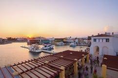 Puerto deportivo de Limassol, Chipre imagen de archivo libre de regalías