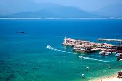 Puerto deportivo de Lingshui de la isla del límite Imagenes de archivo