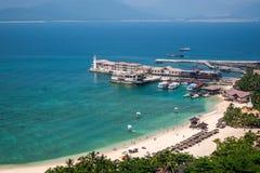 Puerto deportivo de Lingshui de la isla del límite Fotos de archivo
