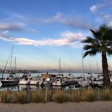 Puerto deportivo de Long Beach Imágenes de archivo libres de regalías