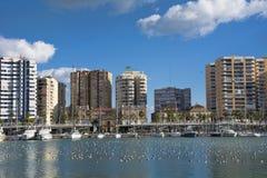 Puerto deportivo de Málaga Imágenes de archivo libres de regalías