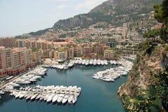 Puerto deportivo de Mónaco Foto de archivo libre de regalías