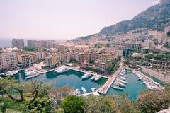 Puerto deportivo de Mónaco Fotos de archivo