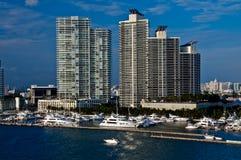 Puerto deportivo de Miami Beach Foto de archivo
