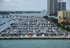 Puerto deportivo de Miami Beach imagenes de archivo