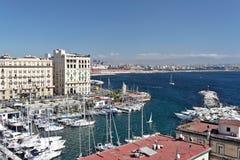 Puerto deportivo de Nápoles fotos de archivo