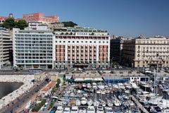 Puerto deportivo de Nápoles imagen de archivo