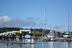 Puerto deportivo de Opua en la bahía de las islas Nueva Zelanda Imágenes de archivo libres de regalías