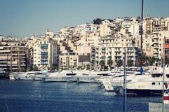 Puerto deportivo de Pireo, Atenas imagen de archivo