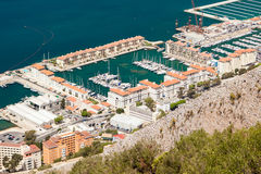 Puerto deportivo de Quensway Quay, Gibraltar Imagenes de archivo