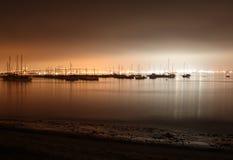Puerto deportivo de San Diego en la noche foto de archivo libre de regalías