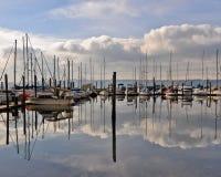 Puerto deportivo de Tacoma Imagen de archivo libre de regalías