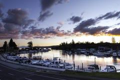 Puerto deportivo de Taupo del lago Imágenes de archivo libres de regalías