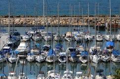 Puerto deportivo de Tel Aviv, Israel Fotos de archivo libres de regalías