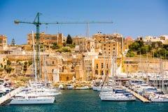 Puerto deportivo de Triq en Kalkara de Malta imagen de archivo libre de regalías