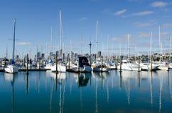 Puerto deportivo de Westhaven - Auckland Foto de archivo libre de regalías