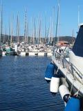 Puerto deportivo del barco de vela Foto de archivo