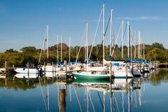 Puerto deportivo del barco de vela en la Florida Fotografía de archivo libre de regalías