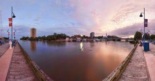 Puerto deportivo del crédito del puerto (mississauga Ontario) Imagenes de archivo