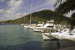 Puerto deportivo del hotel de Tripical Imagenes de archivo