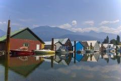 Puerto deportivo del lago Kootenay Fotos de archivo