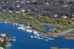 Puerto deportivo del Long Island Imagen de archivo libre de regalías