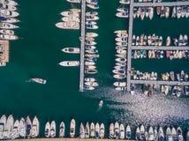 Puerto deportivo del mar Mediterráneo Imagenes de archivo