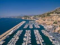 Puerto deportivo del mar Mediterráneo Foto de archivo libre de regalías