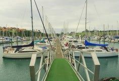 Puerto deportivo del puerto del golfo, Auckland, Nueva Zelanda Foto de archivo libre de regalías
