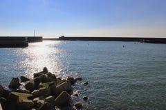 Puerto deportivo del sol del invierno imágenes de archivo libres de regalías