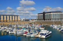 Puerto deportivo del St. Hellier, Jersey Imagen de archivo
