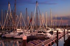 Puerto deportivo del yate Fotos de archivo