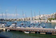 Puerto deportivo del Zea en Pireo Imagenes de archivo