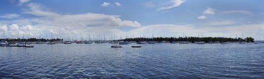 Puerto deportivo dominante de la cena Foto de archivo libre de regalías
