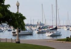 Puerto deportivo en Chicago Foto de archivo